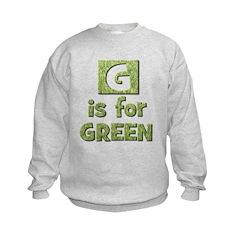 G is for Green Sweatshirt