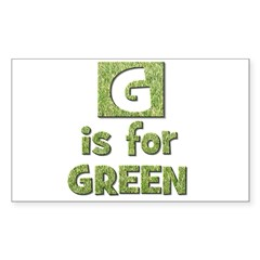 G is for Green Rectangle Sticker