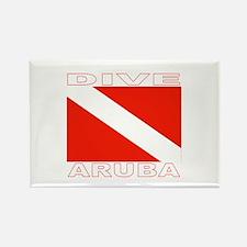 Dive Aruba Rectangle Magnet