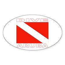 Dive Aruba Oval Decal