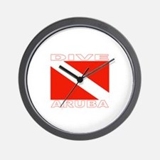 Dive Aruba Wall Clock