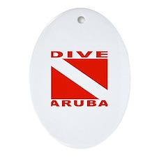Dive Aruba Oval Ornament