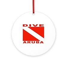 Dive Aruba Ornament (Round)