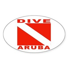 Dive Aruba Oval Decal