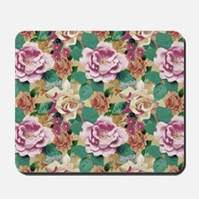 Faded Vintage Roses Mousepad