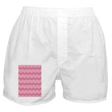 D60x84 loops zigzag white med pink Boxer Shorts
