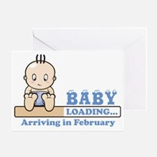 Arriving in February Greeting Card