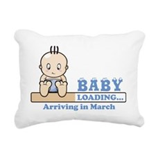 Arriving in March Rectangular Canvas Pillow