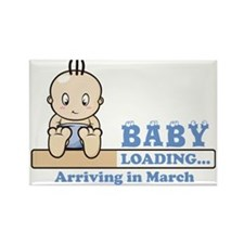 Arriving in March Rectangle Magnet