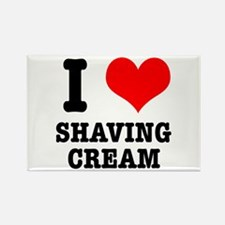 I Heart (Love) Shaving Cream Rectangle Magnet