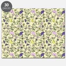Yellow, Purple and Pink Flowers Puzzle