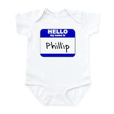 hello my name is phillip  Infant Bodysuit