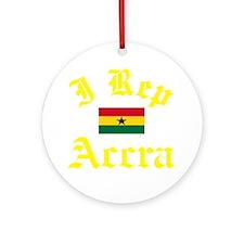 I Rep Accra capital Designs Round Ornament