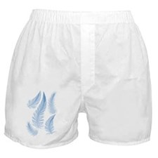 blue feathers, vector drawing Boxer Shorts