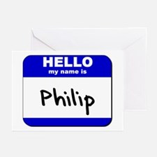 hello my name is philip  Greeting Cards (Package o