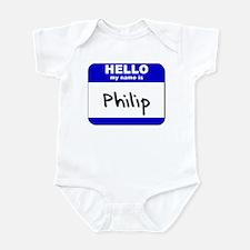 hello my name is philip  Infant Bodysuit