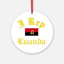 I Rep Luanda capital Designs Round Ornament