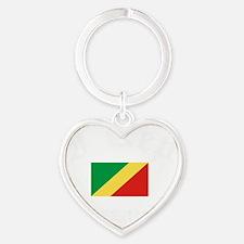 I Rep Brazzaville capital Designs Heart Keychain