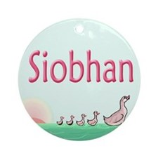 Ducklings Siobhan  Ornament (Round)