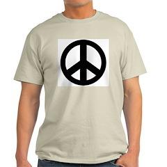 Peace Symbol T-Shirt Men's Ash Grey
