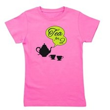 tea for two, tea pot and cups Girl's Tee