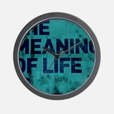 The Meaning of Life is... (in blue) Wall Clock
