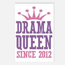 Drama Queen Since 2012 Postcards (Package of 8)