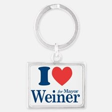 I Love Weiner Landscape Keychain