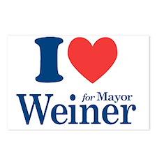 I Love Weiner Postcards (Package of 8)