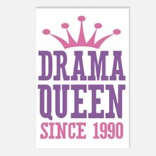 Drama Queen Since 1990 Postcards (Package of 8)