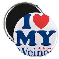 I Love My Weiner Magnet