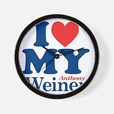 I Love My Weiner Wall Clock