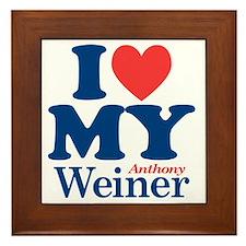 I Love My Weiner Framed Tile