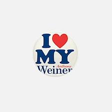 I Love My Weiner Mini Button