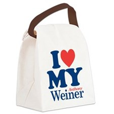 I Love My Weiner Canvas Lunch Bag