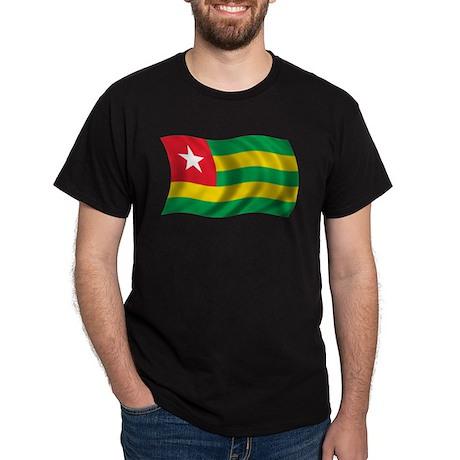 Wavy Togo Flag Dark T-Shirt