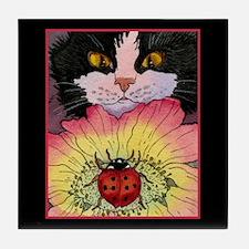 KITTY & LADYBUG Tile Coaster