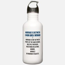 Marriage In America Water Bottle