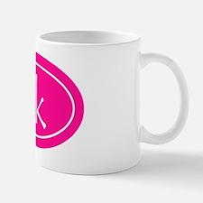 Pink 5k Oval Mug