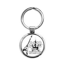 Read like a Rockstar! Round Keychain