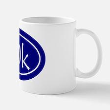 Blue 10k Oval Mug