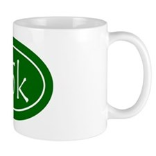Green 25k Oval Mug