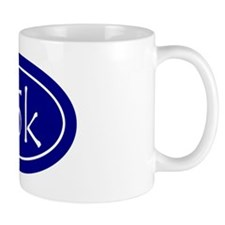 Blue 25k Oval Mug