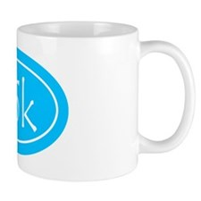 Sky Blue 25k Oval Mug