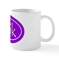 Purple 25k Oval Mug