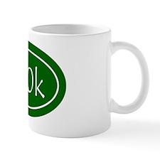 Green 100k Oval Mug