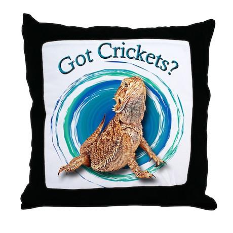 Bearded Dragon Got Crickets II Throw Pillow