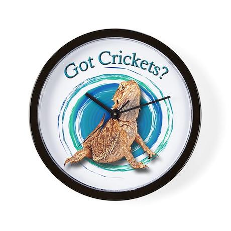 Bearded Dragon Got Crickets II Wall Clock