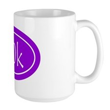 Purple 50k Oval Mug