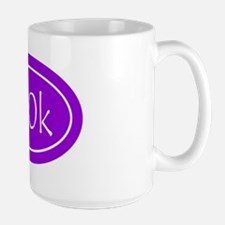 Purple 100k Oval Large Mug